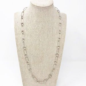 Jewelry - 925 Sterling Silver Open Link Chain Necklace